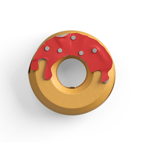 Protein high-calorie donut